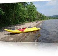 Randonnées en kayak à l'Éco-Site - Tête du Lac Témiscouata