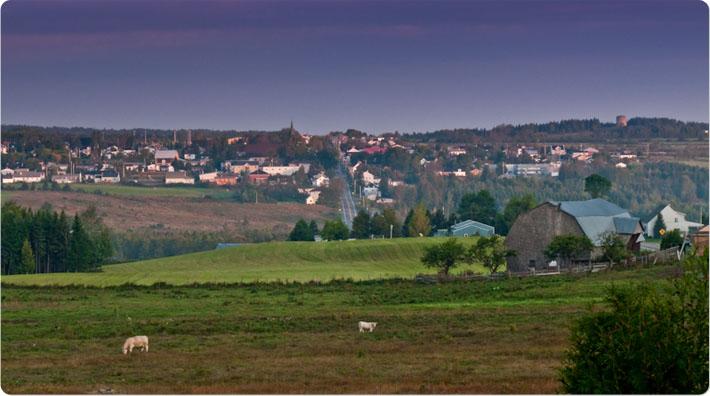 Vue du village de Saint-Cyprien